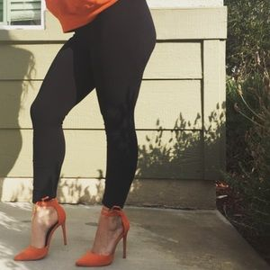 Orange heels size 7 picture by me